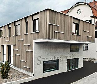 Aussenansicht Staatsarchiv Appenzell Ausserrhoden, Foto: Martina Basista