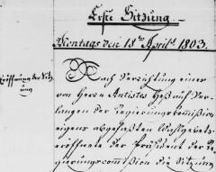Kantonsratsprotokolle seit 1803