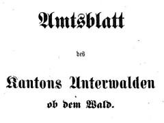 Amtsblatt des Kantons Obwalden